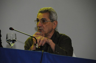 Antonio Negri speaking at a conference